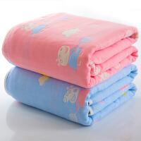 婴儿浴巾纯棉纱布新生儿毛巾被子超柔吸水宝宝洗澡盖毯儿童空调被 i5z