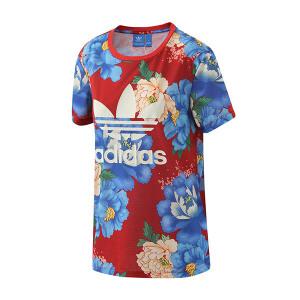 adidas阿迪达斯三叶草女装短袖T恤新款运动服BJ8414