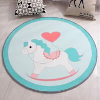 物有物语 地毯 圆形地毯卡通地垫可水洗机洗