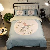 床上四件套棉床单被套网红1.8m床双人ins风1.5夏季床上用品