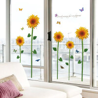 装饰贴向日葵墙贴画客厅卧室婚房电视背景墙沙发墙壁贴纸可移除浪漫贴花 向日葵 特大
