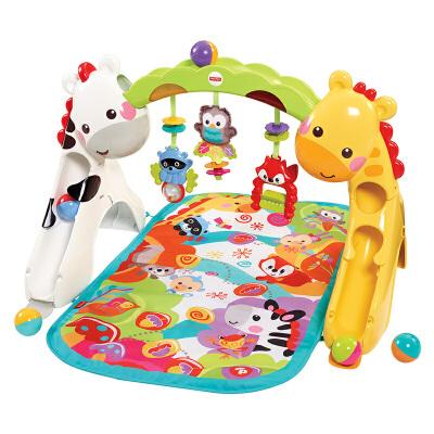 [当当自营]Fisher Price 费雪 欢乐动物音乐健身器 新生儿动作锻炼玩具 CCB70 【当当自营】适合0-3岁婴幼儿 健身锻炼