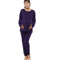 慈颜CIYAN秋冬孕妇装孕妇保暖内衣套装哺乳秋衣裤加绒喂奶衣JCR9001