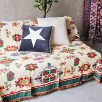物念多用途几何图案棉线色织线毯沙发巾沙发毯飘窗垫挂毯满