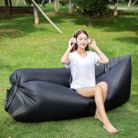 户外便携式空气沙发袋 充气沙发床 单人快速充气床垫懒人沙滩沙发