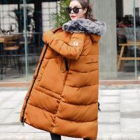 大码女装冬装新款中长款大毛领羽绒外套女XT