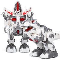 儿童电动智能唱歌跳舞机械战警遥控机器人玩具变形恐龙男孩充电