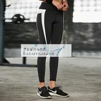 新款黑色显瘦瑜伽裤健身裤女弹力紧身提臀透气运动长裤跑步裤