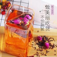 陌上花开玫瑰普洱茶 袋泡茶玫瑰花茶普洱熟茶茶包组合型花茶包邮