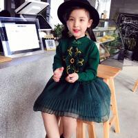 春装新款女童连衣裙儿童裙子 洋气中大童