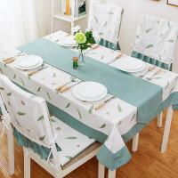 美式田园桌布棉麻小清新茶几餐桌布艺椅套椅垫套装长方形台布家用