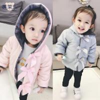 2018050618223女婴儿卫衣服秋装外套装1岁0男宝宝加厚保暖秋冬装