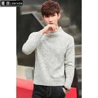 男士纯色针织毛衣 韩版半高领线衣秋冬季打底衫加厚保暖外套上衣
