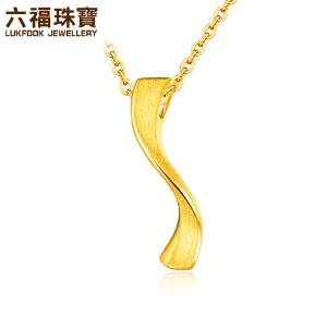 六福珠宝小蛮腰黄金吊坠女不含链  L05TBGP0008