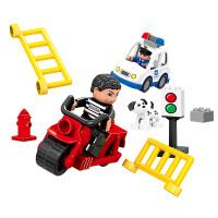 积木大颗粒组装儿童积木玩具 2-4-9周岁警察拼装系列场景