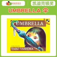 美国进口 1955年凯迪克图书银奖 Umbrella 伞有趣的故事绘本丰富词汇量开发想象力平装