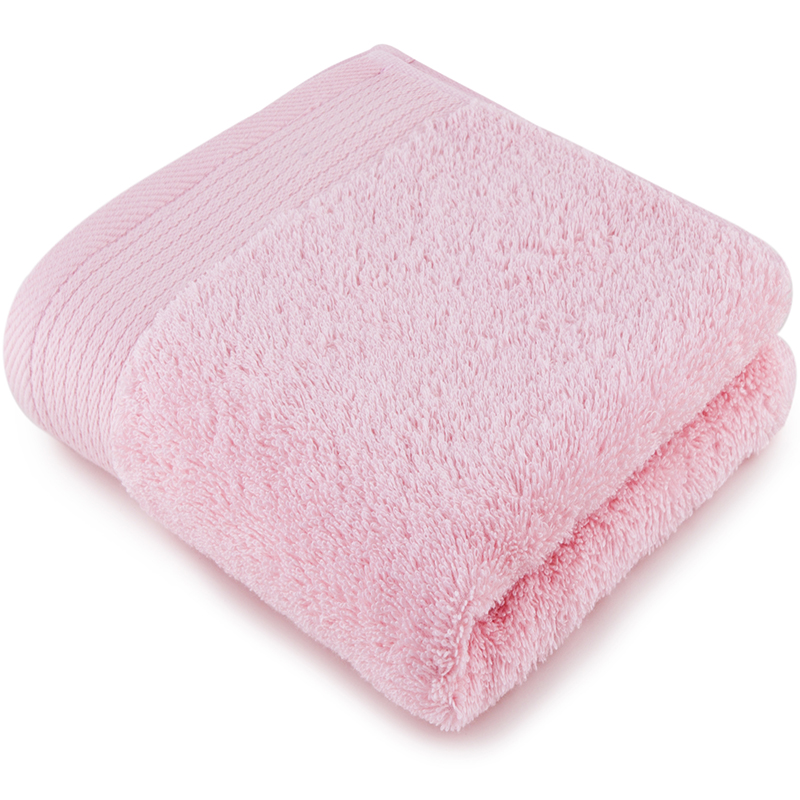 [当当自营]三利 A类加厚长绒棉缎边大面巾 桃粉色 纯棉洗脸毛巾 柔软舒适 带挂绳 婴儿可用