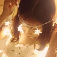 耀庆LED彩灯闪灯串灯满天星卧室彩灯节日装饰灯电池款星星灯自拍