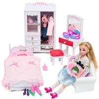 娃娃套装大礼盒衣柜巴比公主仿真洋娃娃儿童女孩玩具屋