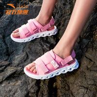 安踏女童凉鞋 2019夏季新款童鞋透气舒适沙滩凉鞋 时尚休闲拖鞋女