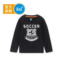 【线下同款】361度 童装男童长袖T恤2018年秋季新款儿童打底衫 K51831253