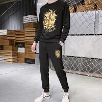 男士卫衣休闲两件套装秋季新款圆领春秋韩版潮流运动潮牌两件套