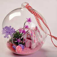 mxmade欧式创意唯美手工DIY迷你小屋玻璃球送老师情人节礼物