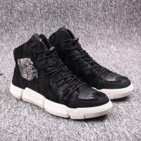 冬季潮鞋加绒帆布高帮男鞋韩版运动休闲鞋迷彩短靴子男士高邦板鞋