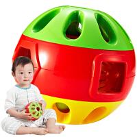 儿童学爬行宝宝健身玩具 响铃滚滚球婴儿铃铛手抓球幼