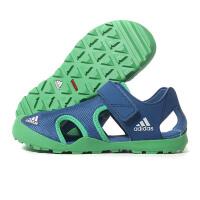 adidas阿迪达斯童2018夏季新款运动鞋男女小童魔术贴休闲凉鞋BB5413