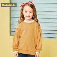 巴拉巴拉童装女童卫衣秋装新款韩版儿童上衣小童宝宝套头衫潮