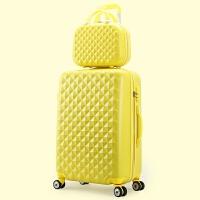 七夕礼物定制拉杆箱20寸旅行箱万向轮24寸行李箱密码箱登机箱 黄色子母箱 28寸