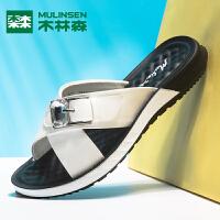 木林森女鞋2019新款港风凉鞋拖鞋女夏时尚外穿外出韩版百搭