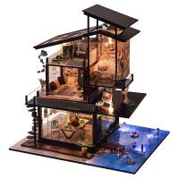 diy小屋巴伦西亚海岸 创意手工制作房子模型别墅拼装玩具礼物