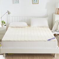 床褥双人榻榻米床垫保护垫薄防滑床护垫加厚寝室1.2/1.5m1.8垫被 乳白色 宝宝绒两用薄床垫