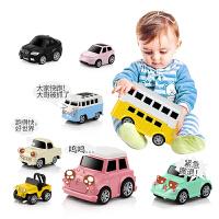 豆豆象儿童益智宝宝玩具合金金属回力车 小汽车模型男孩女孩玩具礼物