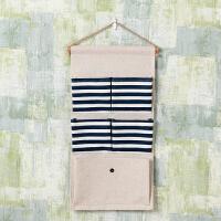 学生宿舍墙挂式棉麻布艺收纳袋墙上壁挂门后置物袋多层兜储物挂袋 尺寸如图所示