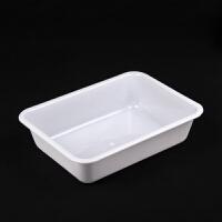 白色塑料盆�L方形�盆�N房洗菜盆收�{食品盆麻辣�C 白色