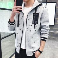 男士外套青少年卫衣男连帽潮牌男装秋季2017新款韩版潮流学生衣服