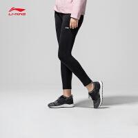 李宁卫裤女士新款训练系列长裤裤子女装春季平口针织运动裤AKLN074