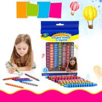 儿童迷彩蜡笔可水洗宝宝画笔彩笔涂鸦笔幼儿旋转油画棒 7色超长蜡笔