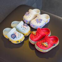 儿童拖鞋夏季1-3岁宝宝2滑软底男童外出沙滩女童