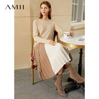 Amii空气感纯羊绒衫女士新款AirMax纤维打底上衣套头针织毛衣