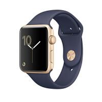 【当当自营】Apple Watch Series 1 智能手表(38毫米金色铝金属表壳 午夜蓝色运动型表带 防水溅 蓝