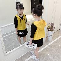 女童春套装儿童连衣裙中大童套裙女孩裙子两件套