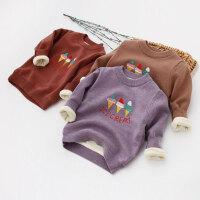 女童棉质柔软加绒长袖打底针织衫17秋冬新款童装儿童宝冰淇淋毛衣