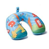 旅游便携吹气u型充气枕头护颈枕 长途旅行必神器备做飞机火车睡觉