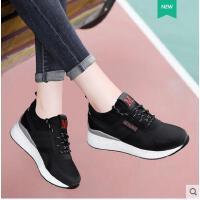 古奇天伦春季新款韩版夏季学生休闲跑步鞋内增高运动鞋女透气轻便百搭RT08957