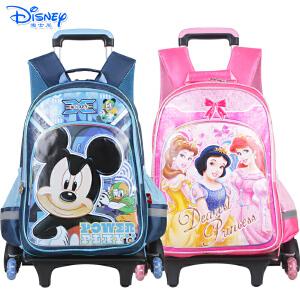 迪士尼米奇公主儿童卡通小学生双肩可拆卸双肩三轮可爬楼拉杆书包DB96075-1