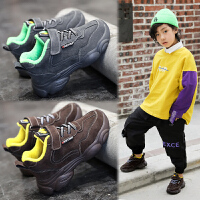 童鞋男童秋冬款儿童老爹鞋女加绒女童运动鞋
